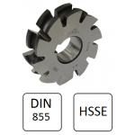 Fresa Perfil Semi-circular Côncavo HSS 2115 DIN 855 - 1x45x5